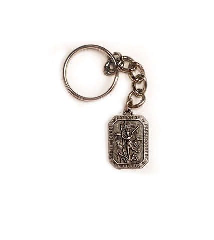 "Saint Michael's Patron of the US Paratroopers ""Protect Us"" Key Chain Pendant - Insignia Depot"