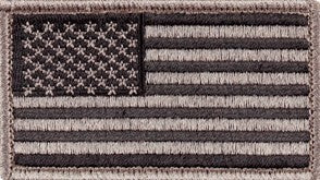 U.S. Flag Urban Gray and Black Sew-on Patch - Insignia Depot