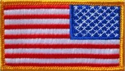 U.S. Flag Reverse Color Sew-on Patch - Insignia Depot