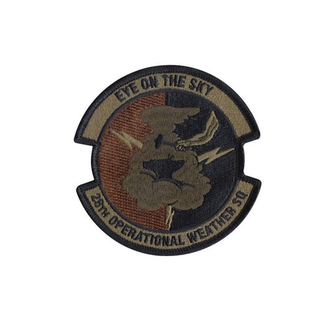 US Air Force 28th Operational Weather Squadron OCP Spice Brown Patch with Hook Fastener - Insignia Depot