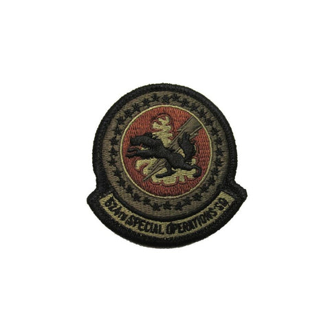 US Air Force 524th Special Operations Squadron OCP Spice Brown Patch with Hook Fastener - Insignia Depot