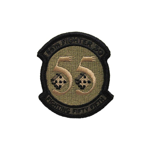US Air Force 55th Fighter Squadron OCP Spice Brown Patch with Hook Fastener - Insignia Depot
