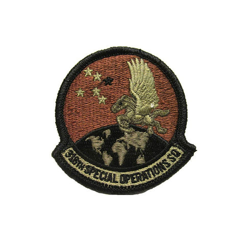 US Air Force 318th Special Operations Squadron OCP Spice Brown Patch with Hook Fastener - Insignia Depot