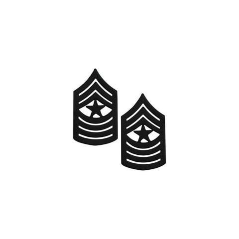 USMC Sergeant Major Subdued Metal Pin On Rank - Insignia Depot