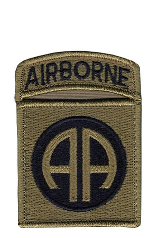 82nd Airborne w- Tab OCP Patch with Hook Fastener (pair) - Insignia Depot
