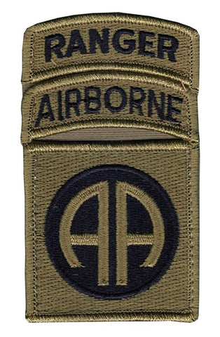 82nd Airborne with Airborne And Ranger Tabs Sewn Together  OCP Patch with Hook Fastener (pair) - Insignia Depot