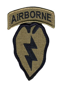 25th Infantry with Airborne Tab OCP Patch with Hook Fastener (pair) - Insignia Depot