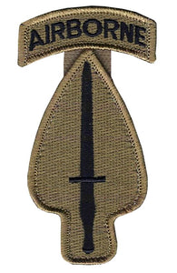 Special Operations Command With Airborne Tab OCP Patch with Hook Fastener (pair) - Insignia Depot