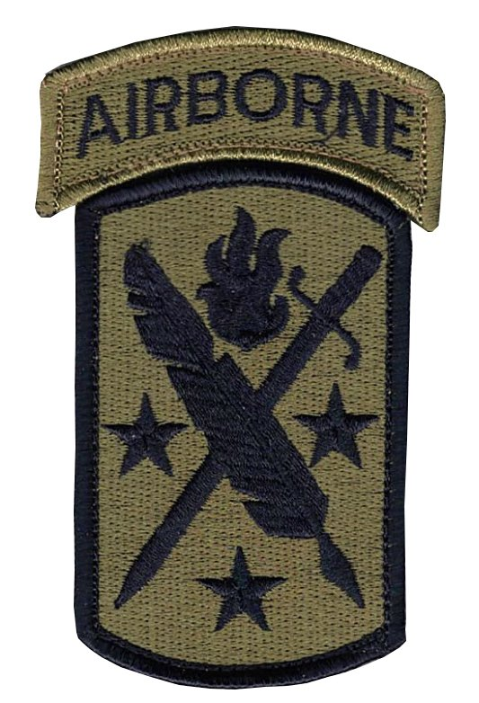 95th Civil Affairs And Airborne Tab OCP Patch with Hook Fastener (pair) - Insignia Depot