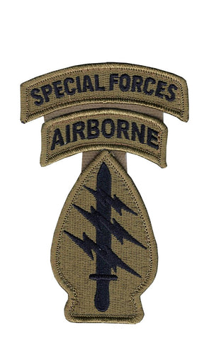 Special Forces OCP Patch with Special Forces, Airborne Tabs and Hook Fastener (pair) - Insignia Depot