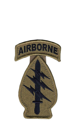 Special Forces OCP Patch with Hook Fastener and Airborne Tab (pair) - Insignia Depot