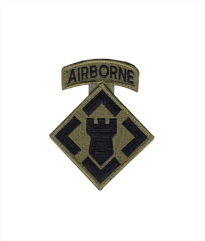 20th Engineer OCP Patch with Hook Fastener and Airborne Tab (pair) - Insignia Depot