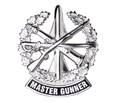 Master Gunner Brite Pin-on Badge - Insignia Depot