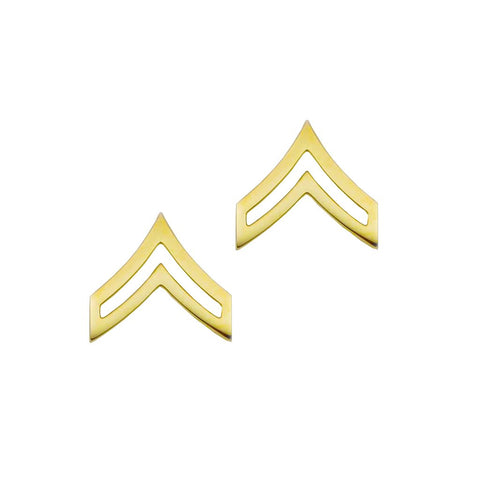 "Police Corporal Gold Rank Pin Tall 13-16"" Pair - Insignia Depot"