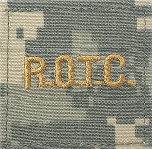 ROTC R.O.T.C. Gold Letters ACU Rank with Hook Fastener - Insignia Depot