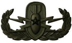 Explosive Ordnance Disposal Senior Black Metal Pin-on Badge - Insignia Depot