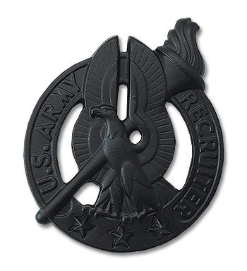 Recruiter Basic Black Metal Pin-on Badge - Insignia Depot