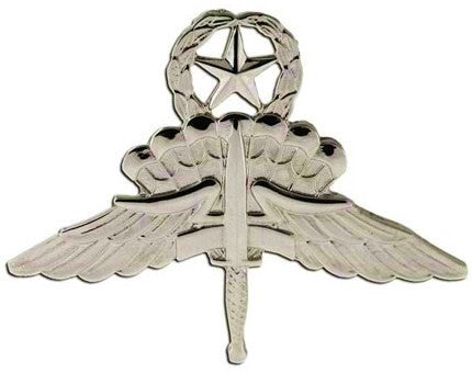 Military Free Fall Parachutist (Halo) Master Brite Pin-on Badge - Insignia Depot