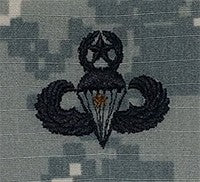 Combat Parachutists (Jump Wings) 1 Jump Master ACU Sew-on Badge - Insignia Depot