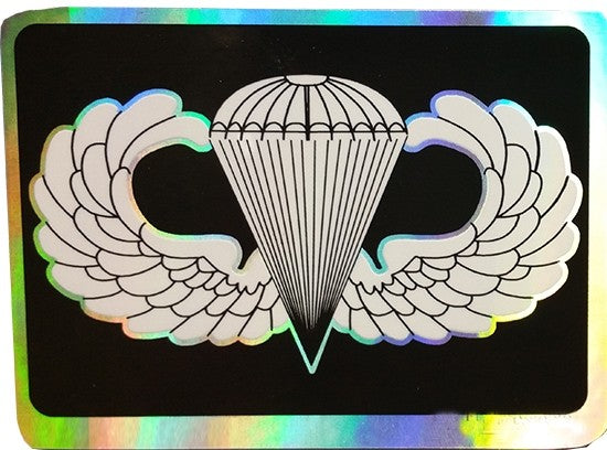 Jump Wing Basic Prismatic Decal 3.25in x 2.25in - Insignia Depot