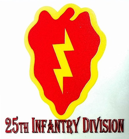 25th Infantry Division Reverse Window Vinyl Decal 3in x 3in - Insignia Depot