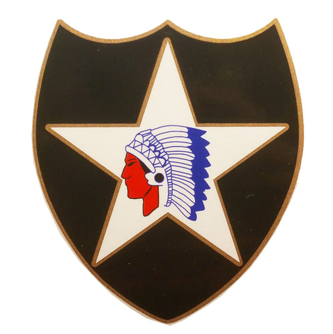 2nd Infantry Vinyl Window Decal 3.25in x 3.25in - Insignia Depot