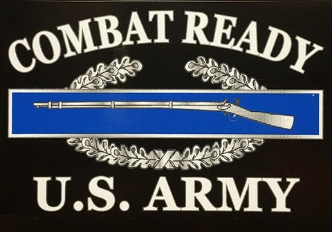 Combat Ready US Army CIB Decal 3.25in x 3.25in - Insignia Depot