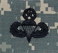 Parachutists (Jump Wings) Master ACU Sew-on Badge - Insignia Depot