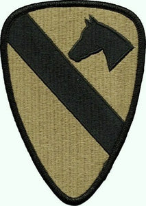1st Cavalry Division OCP Patch with Hook Fastener (pair) - Insignia Depot