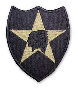 2nd Infantry Division OCP Patch with Hook Fastener (pair) - Insignia Depot