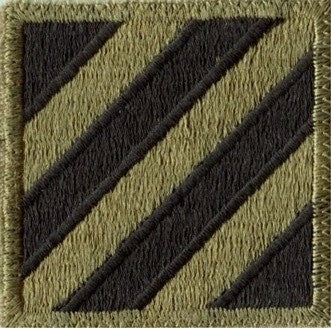 3rd Infantry Division OCP Patch with Hook Fastener (pair) - Insignia Depot