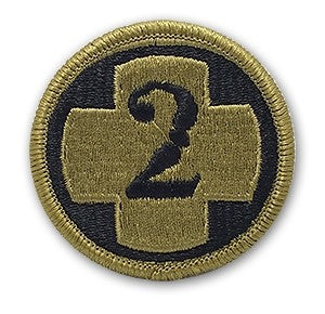2nd Medical Brigade OCP Patch with Hook Fastener (pair) - Insignia Depot