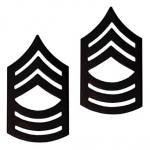 E8 Master Sergeant Black Metal Pin-on Rank - Insignia Depot