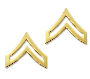 E4 Corporal Brite Pin-on Rank - Insignia Depot