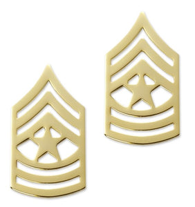 E9 Sergeant Major Brite Pin-on Rank - Insignia Depot