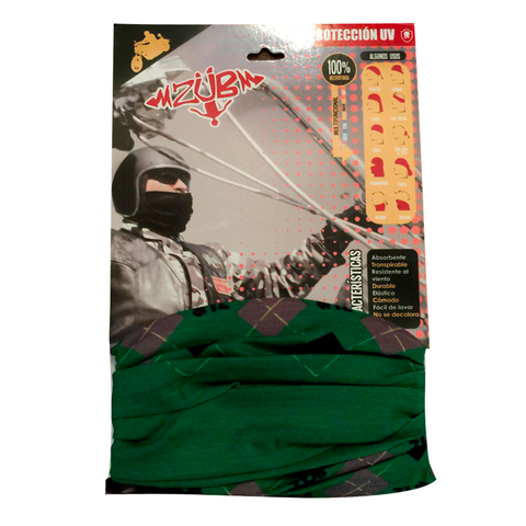 Bandana Zubwear Fashion Green Argyle
