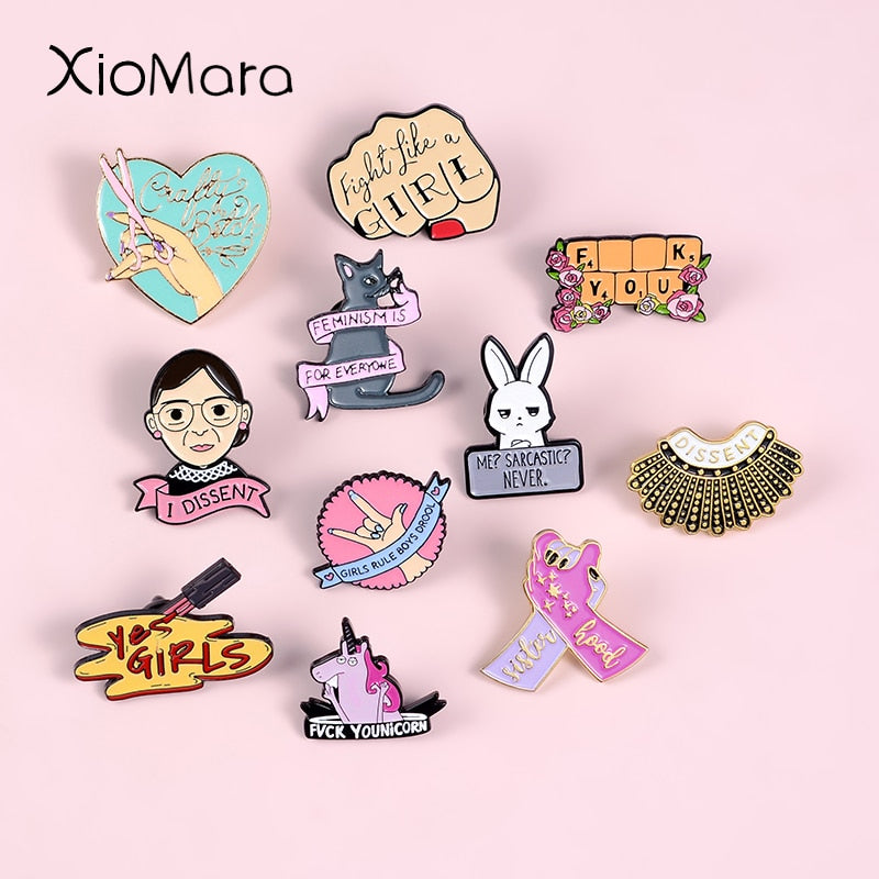 Fight Like A Girl Pins
