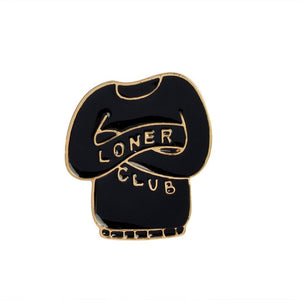 Introvert Loner Club Enamel Pins
