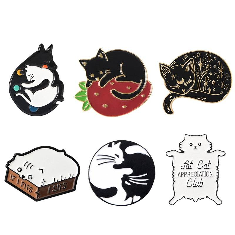 Right Meow Enamel Pin Collection