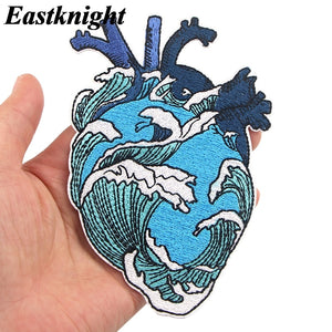 Wave In My Heart Embroidered Patch