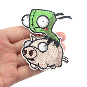 Invader Zim Embroidered Patch