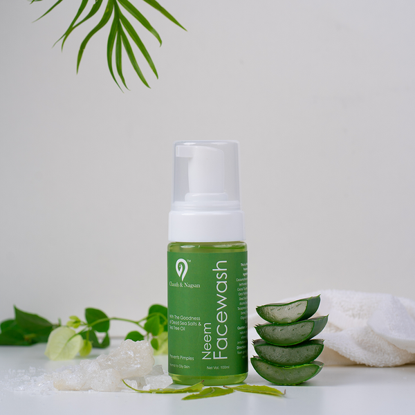 Dead Sea Salts Neem Foaming Face Wash