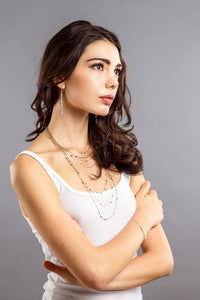 Multiple metal bead chain necklace / Earring / Necklace & earring set