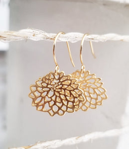 Lotus flower earring