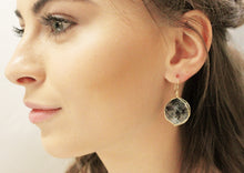 Load image into Gallery viewer, Tourmaline coin shape earring/ Turquoise earring/ Labradorite earring