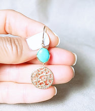 Load image into Gallery viewer, Special Design symbol turquoise earring