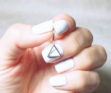 Load image into Gallery viewer, Minimalist triangle earring