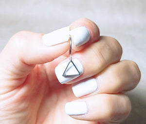 Minimalist triangle earring