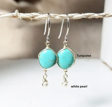 Load image into Gallery viewer, Turquoise dangle earring
