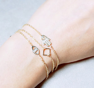 Mini square gold bracelet
